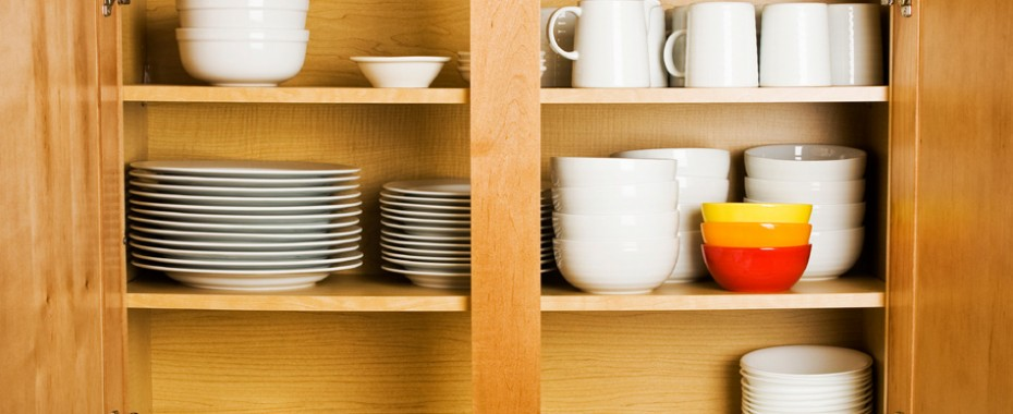 Dishes In the Cabinet